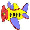 Küçük uçak boyama oyunu