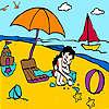 Plaj boyama, küçük kız oyunu
