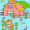 Çocuğu Bahçe boyama oyunu