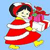 Küçük kız doğum günü hediye boyama oyunu