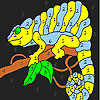 Kertenkele ağaç boyama oyunu