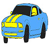 Muhteşem mavi araba boyama oyunu