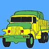Askeri yeşil kamyon boyama oyunu