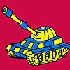 Modern askeri tank araba boyama oyunu