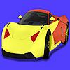 Modern, konsept araba boyama oyunu