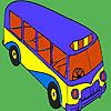 Modern okul otobüsü boyama oyunu