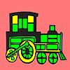 Modern lokomotif araba boyama oyunu