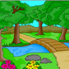 Doğa manzara boyama oyunu