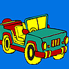 Open top jeep coloring oyunu