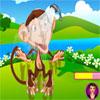 Peppys evde beslenen hayvan bakımı - maymun sallanan oyunu