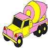 Pembe beton kamyon boyama oyunu
