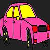 Pembe şehir taksi boyama oyunu