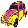 Pembe kaplumbağa araba boyama oyunu