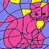 Pembe evde kedi boyama oyunu
