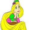 Princess Has a Long Hair Coloring oyunu