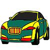 Public green car coloring oyunu