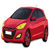Kırmızı Hyundai araba boyama oyunu