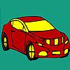 Kırmızı uzun araba boyama oyunu