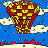 Red flying balloon coloring oyunu