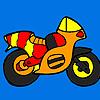 Küçük renkli motosiklet boyama oyunu