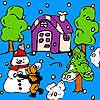 Snowball in the garden coloring oyunu