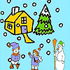 Snow and children coloring oyunu