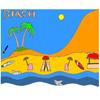 Tropikal plaj boyama oyunu