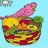 Tropic ada ve boyama papağan oyunu