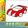 Araçlar boyama sayfaları oyunu